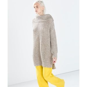Zara Knit Chunky Oversized Turtleneck Sweater